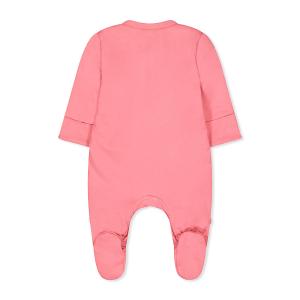 لباس النوم السميك بطبعة طائر باللون الوردي