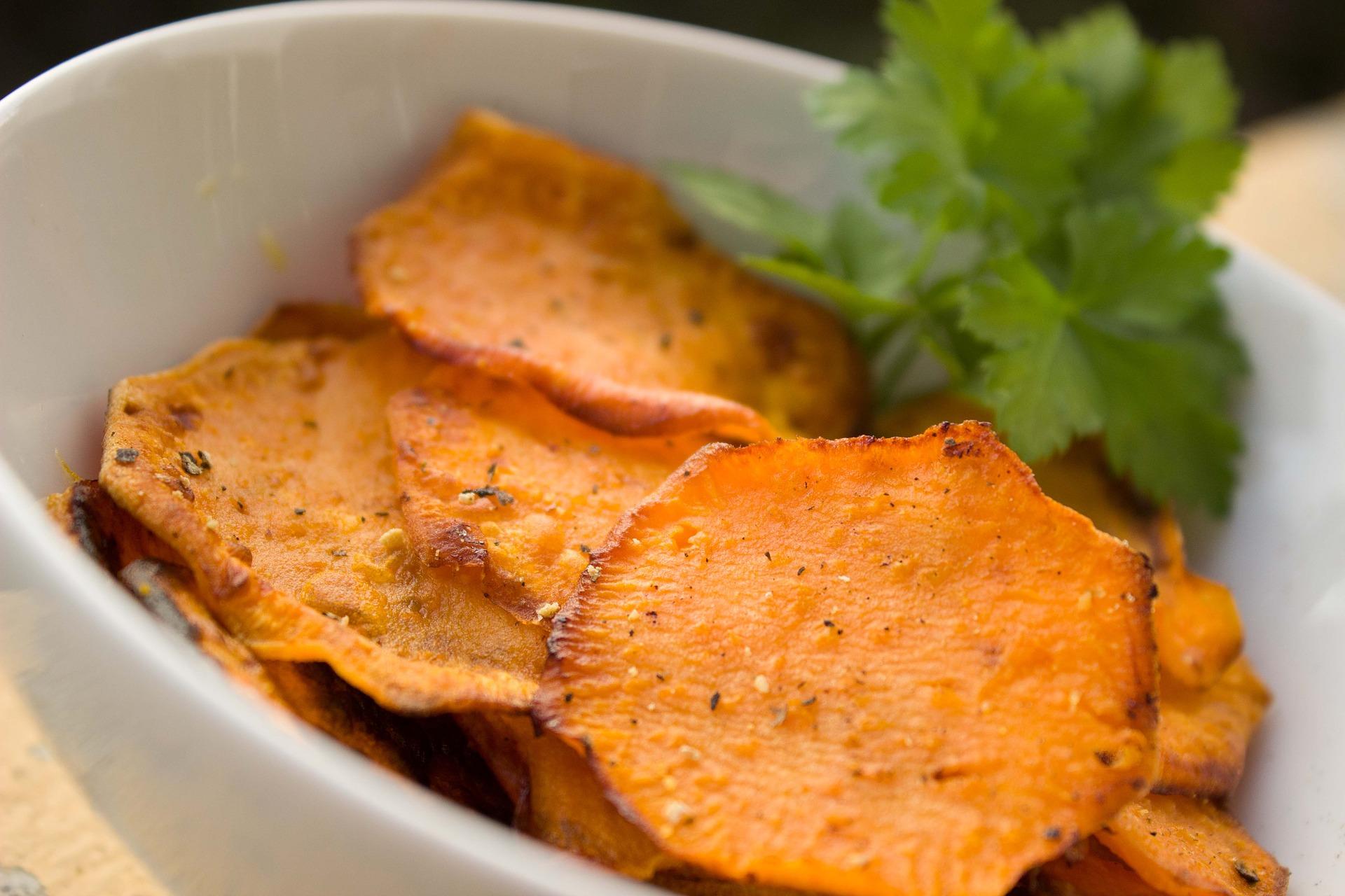 رقائق البطاطا الحلوة